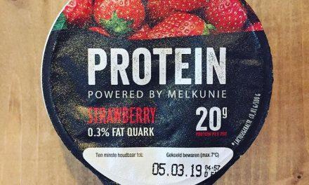 Melkunie PROTEIN strawberry kwark in de Jeroen Food Review