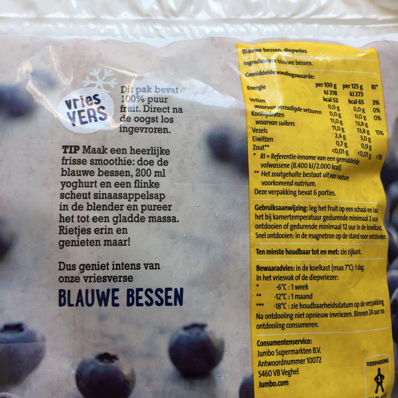 Blauwe bessen voedingswaarde