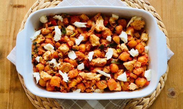 Italiaanse ovenschotel met kip, krieltjes en groenten