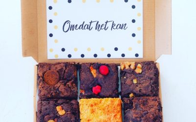 Brownies per post bestellen by Jeroen Food